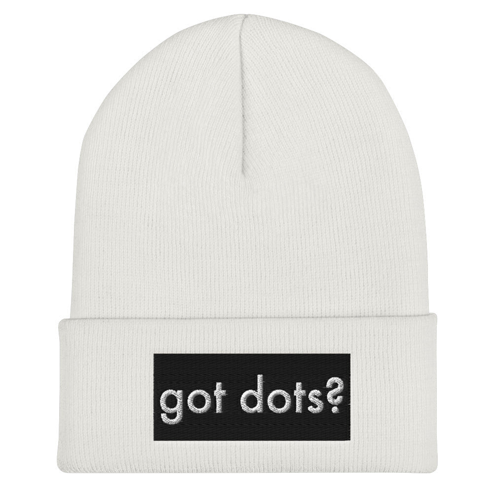 Got Dots Cuffed Beanie-Beanie-Marching Arts Merchandise-Marching Arts Merchandise