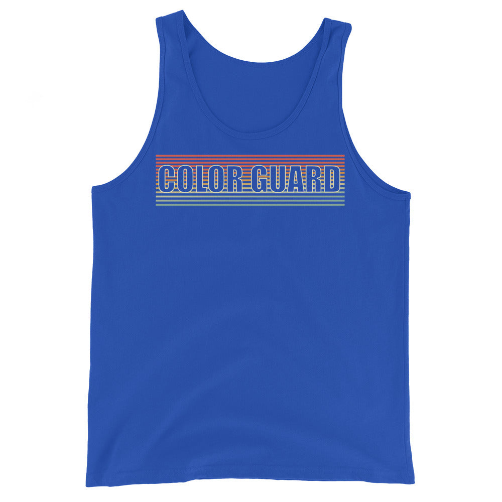Retro Color Guard Unisex Tank Top-Marching Arts Merchandise-True Royal-XS-Marching Arts Merchandise