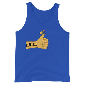 RLRR Flower Percussion Unisex Tank Top-Marching Arts Merchandise-True Royal-XS-Marching Arts Merchandise