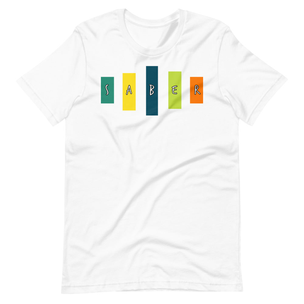 Retro Saber Short-Sleeve Unisex T-Shirt-Marching Arts Merchandise-White-XS-Marching Arts Merchandise