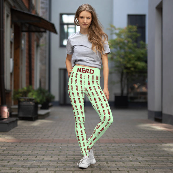 Nerd Yoga Leggings - Marching Arts Merchandise -  - Marching Arts Merchandise - Marching Arts Merchandise - band percussion color guard clothing accessories home goods