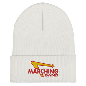 Marching Burgers Cuffed Beanie-Marching Arts Merchandise-White-Marching Arts Merchandise