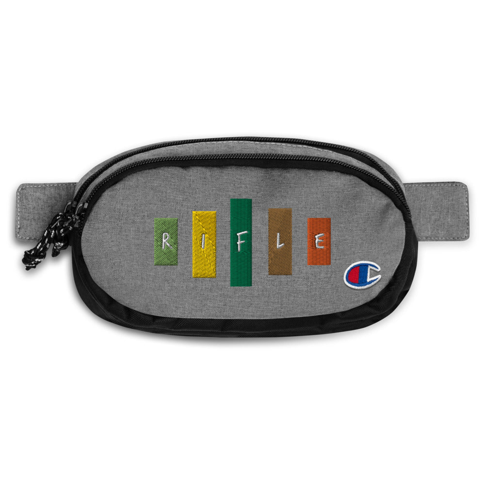 Retro Rifle Champion Fanny Pack-Marching Arts Merchandise-Heather Granite/Black-Marching Arts Merchandise