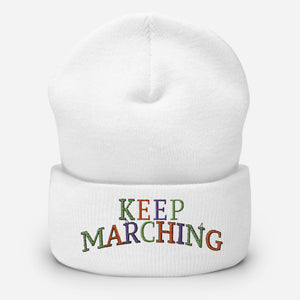 Keep Marching Cuffed Beanie-Marching Arts Merchandise-Marching Arts Merchandise
