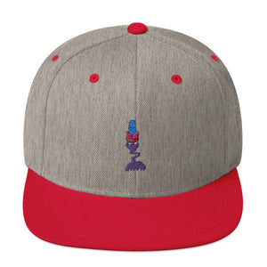 Zombie Drum Major Snapback Hat-Marching Arts Merchandise-Heather Grey/ Red-Marching Arts Merchandise
