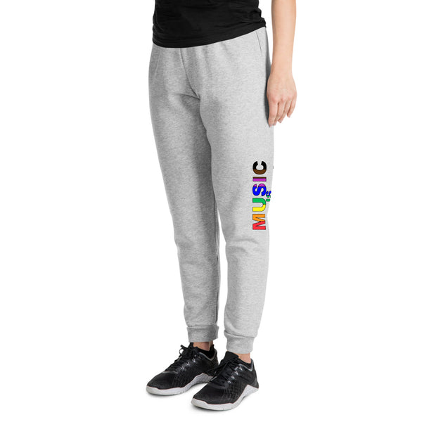 Music Is Universal Unisex Joggers - Marching Arts Merchandise -  - Marching Arts Merchandise - Marching Arts Merchandise - band percussion color guard clothing accessories home goods