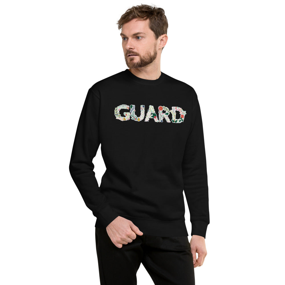 Color Guard Floral Unisex Fleece Pullover-Marching Arts Merchandise-Black-S-Marching Arts Merchandise