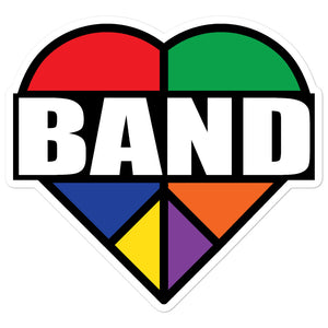 Stained Band Heart Bubble-Free Stickers-Marching Arts Merchandise-5.5x5.5-Marching Arts Merchandise