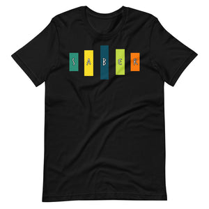 Retro Saber Short-Sleeve Unisex T-Shirt-Marching Arts Merchandise-Black-XS-Marching Arts Merchandise