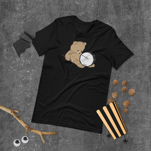 Teddy Bass Percussion Short-Sleeve Unisex T-Shirt-Marching Arts Merchandise-Marching Arts Merchandise