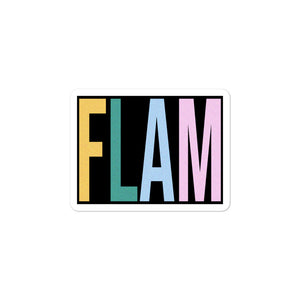 FLAM Bubble-Free Stickers-Marching Arts Merchandise-3x3-Marching Arts Merchandise