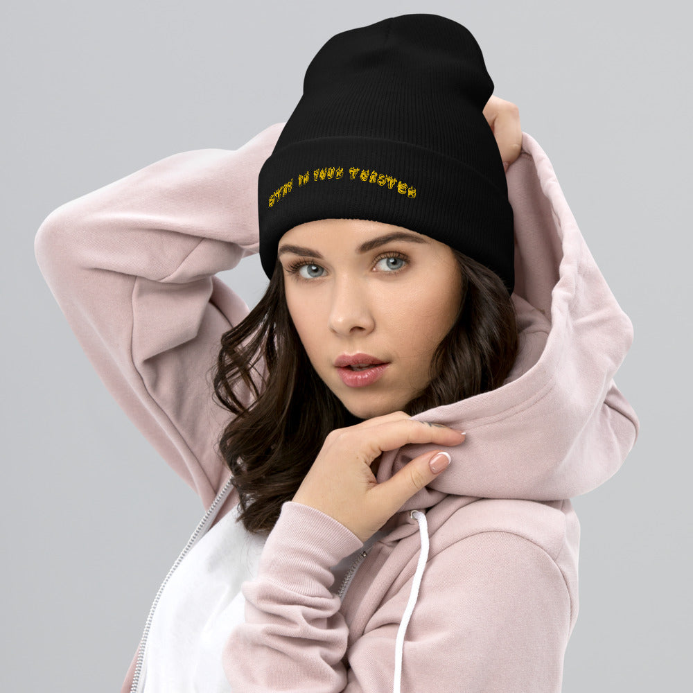 Stay In Your Toaster Cuffed Beanie-Marching Arts Merchandise-Marching Arts Merchandise