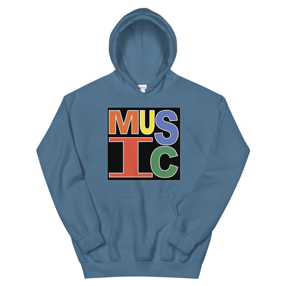 Retro Music Unisex Hoodie-Marching Arts Merchandise-Indigo Blue-S-Marching Arts Merchandise