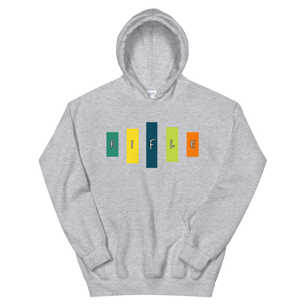 Retro Rifle Unisex Hoodie-Marching Arts Merchandise-Sport Grey-S-Marching Arts Merchandise
