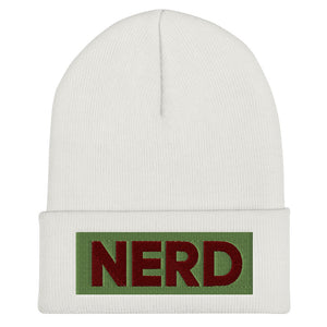 NERD Cuffed Beanie-Marching Arts Merchandise-White-Marching Arts Merchandise
