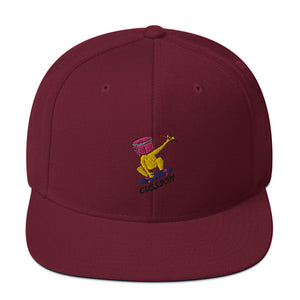 Snare Head Snapback Hat-Marching Arts Merchandise-Maroon-Marching Arts Merchandise