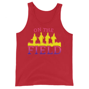 On The Field Marching Band Unisex Tank Top-Marching Arts Merchandise-Red-XS-Marching Arts Merchandise