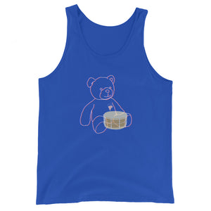 Neon Teddy Snare Percussion Unisex Tank Top-Marching Arts Merchandise-True Royal-XS-Marching Arts Merchandise