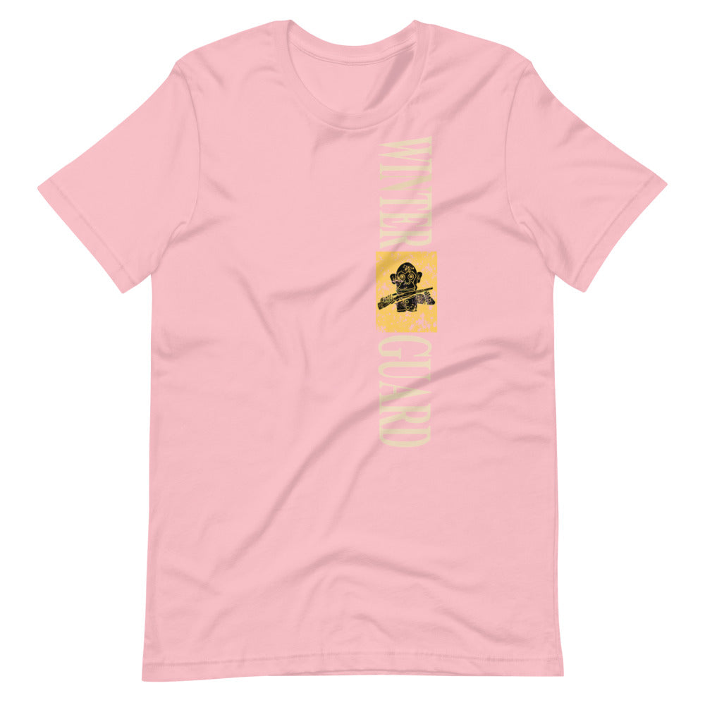 Monkey Rifle Color Guard Short-Sleeve Unisex T-Shirt-Marching Arts Merchandise-Pink-S-Marching Arts Merchandise