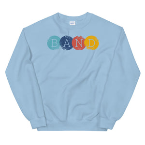Band Circles Marching Band Unisex Sweatshirt-Marching Arts Merchandise-Light Blue-S-Marching Arts Merchandise