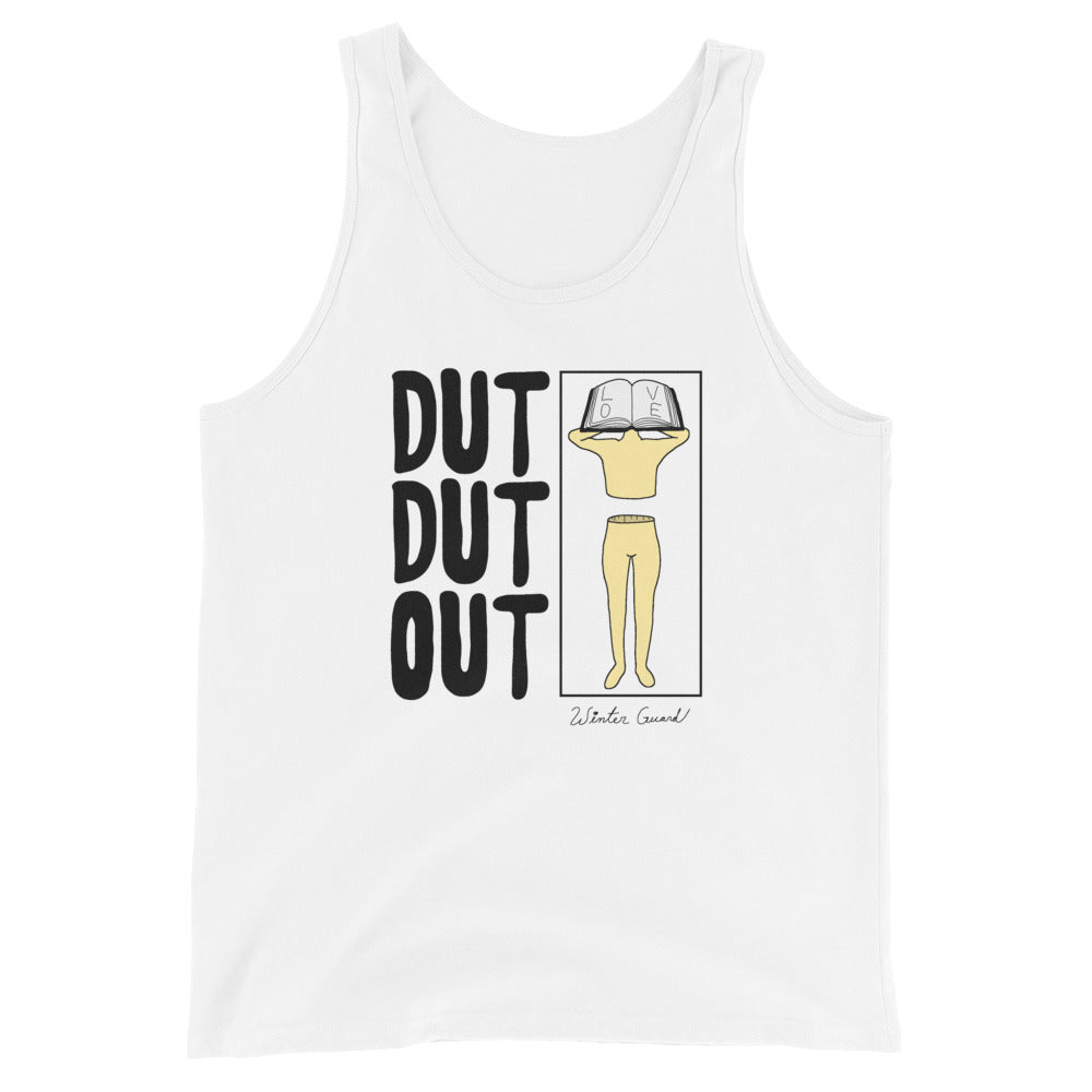 Love Dut Dut Out Color Guard Unisex Tank Top-Marching Arts Merchandise-White-XS-Marching Arts Merchandise