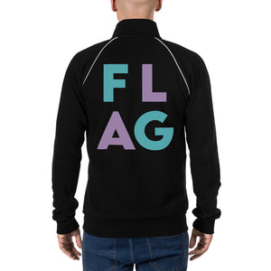 FLAG Block Piped Fleece Jacket-Marching Arts Merchandise-Marching Arts Merchandise