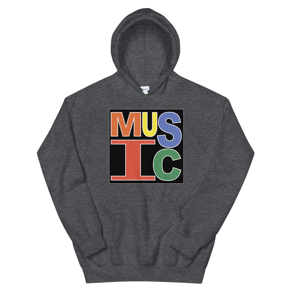 Retro Music Unisex Hoodie-Marching Arts Merchandise-Dark Heather-S-Marching Arts Merchandise