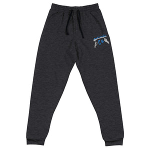 Rifle On Fire Unisex Joggers-Marching Arts Merchandise-Black Heather-S-Marching Arts Merchandise
