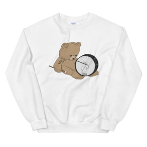 Teddy Bass Unisex Sweatshirt-Marching Arts Merchandise-White-S-Marching Arts Merchandise