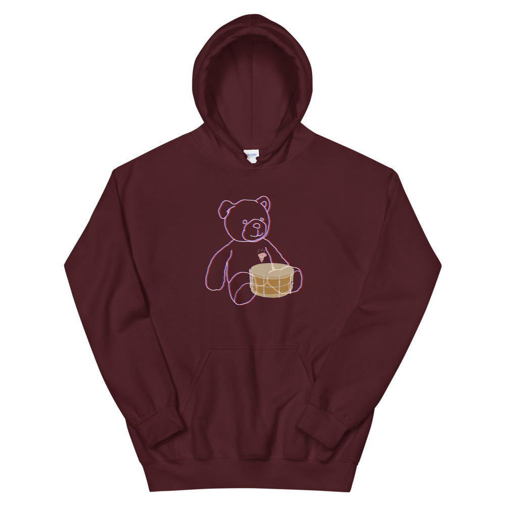 Neon Teddy Snare Percussion Unisex Hoodie-Marching Arts Merchandise-Maroon-S-Marching Arts Merchandise