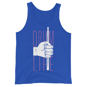 Drum Life Percussion Unisex Tank Top-Marching Arts Merchandise-True Royal-XS-Marching Arts Merchandise
