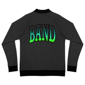 Ombre Band Bomber Jacket-Marching Arts Merchandise-Heather Black-S-Marching Arts Merchandise