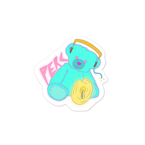 Neon Teddy Cymbal Percussion Bubble-Free Stickers-Marching Arts Merchandise-3x3-Marching Arts Merchandise
