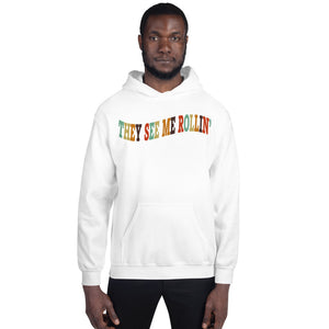 Rollin' Unisex Hoodie-Marching Arts Merchandise-White-S-Marching Arts Merchandise