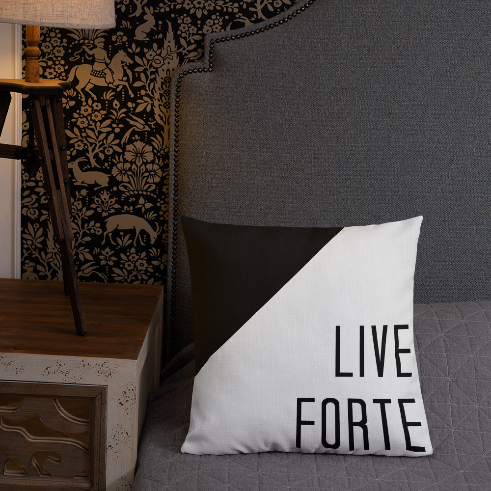 Live Forte Premium Pillow-Marching Arts Merchandise-Marching Arts Merchandise