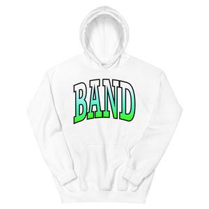 Ombre Band Unisex Hoodie-Marching Arts Merchandise-White-S-Marching Arts Merchandise