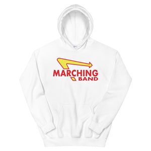 Marching Burgers Unisex Hoodie-Marching Arts Merchandise-White-S-Marching Arts Merchandise