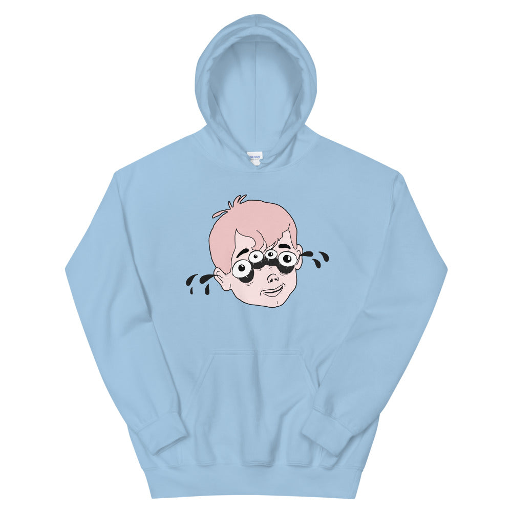 Four Eyed Tenor Percussion Unisex Hoodie-Marching Arts Merchandise-Light Blue-S-Marching Arts Merchandise
