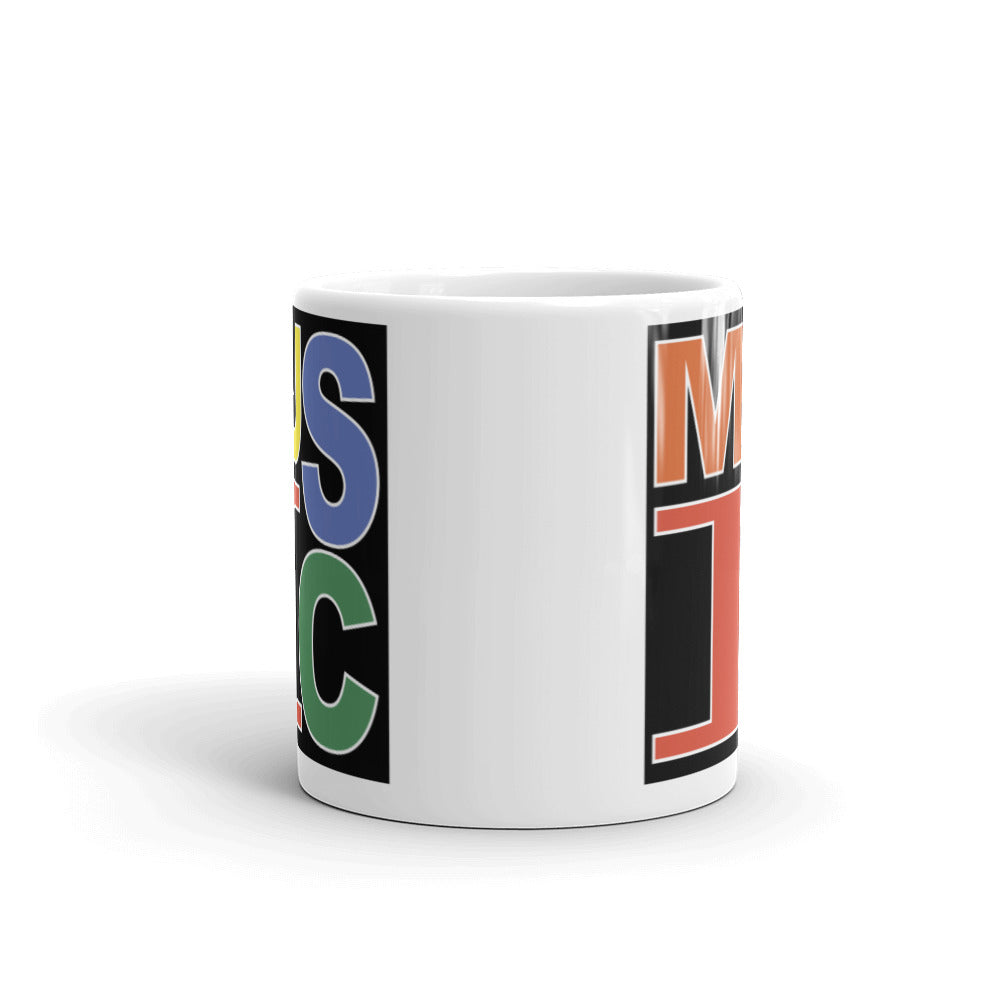 Retro Music Mug-Marching Arts Merchandise-Marching Arts Merchandise