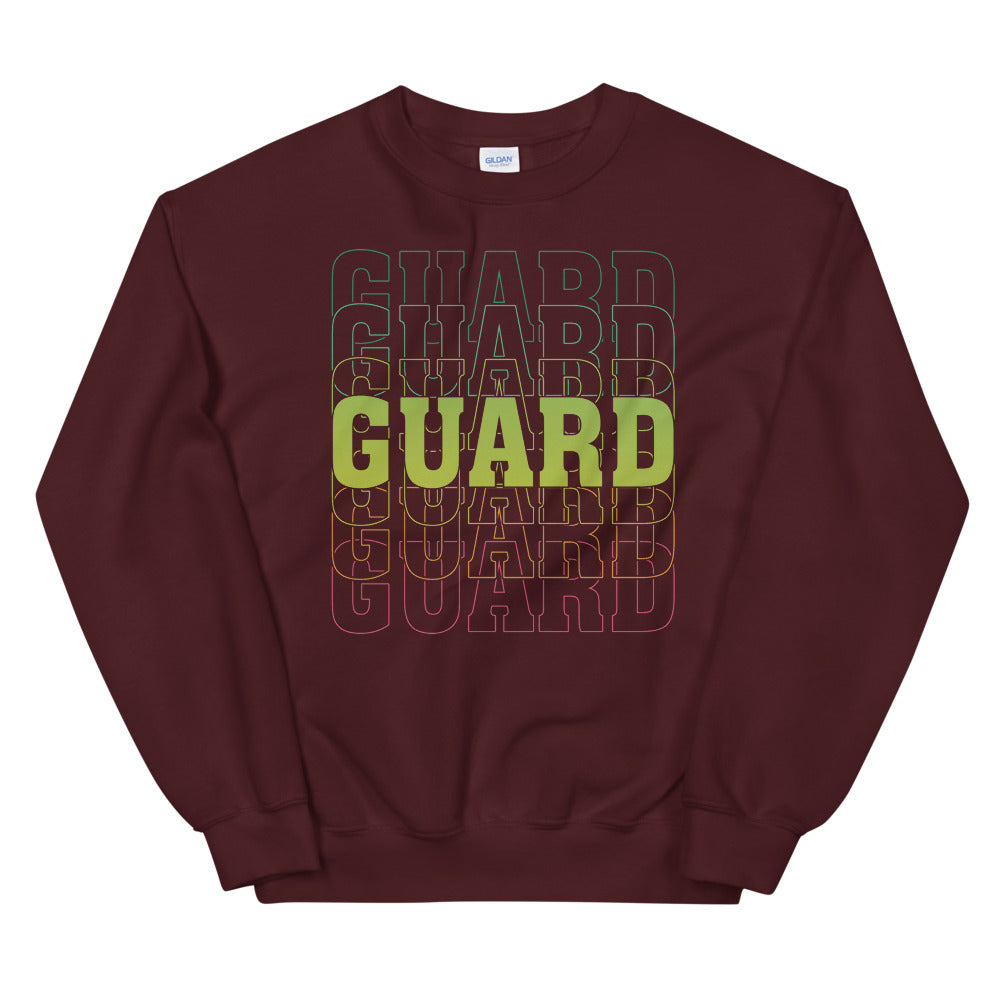 Color Guard On Color Guard Unisex Sweatshirt-Marching Arts Merchandise-Maroon-S-Marching Arts Merchandise