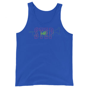 Step Off Marching Band Unisex Tank Top-Marching Arts Merchandise-True Royal-XS-Marching Arts Merchandise