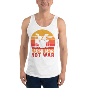 Make Beats Not War Percussion Unisex Tank Top-Marching Arts Merchandise-Marching Arts Merchandise