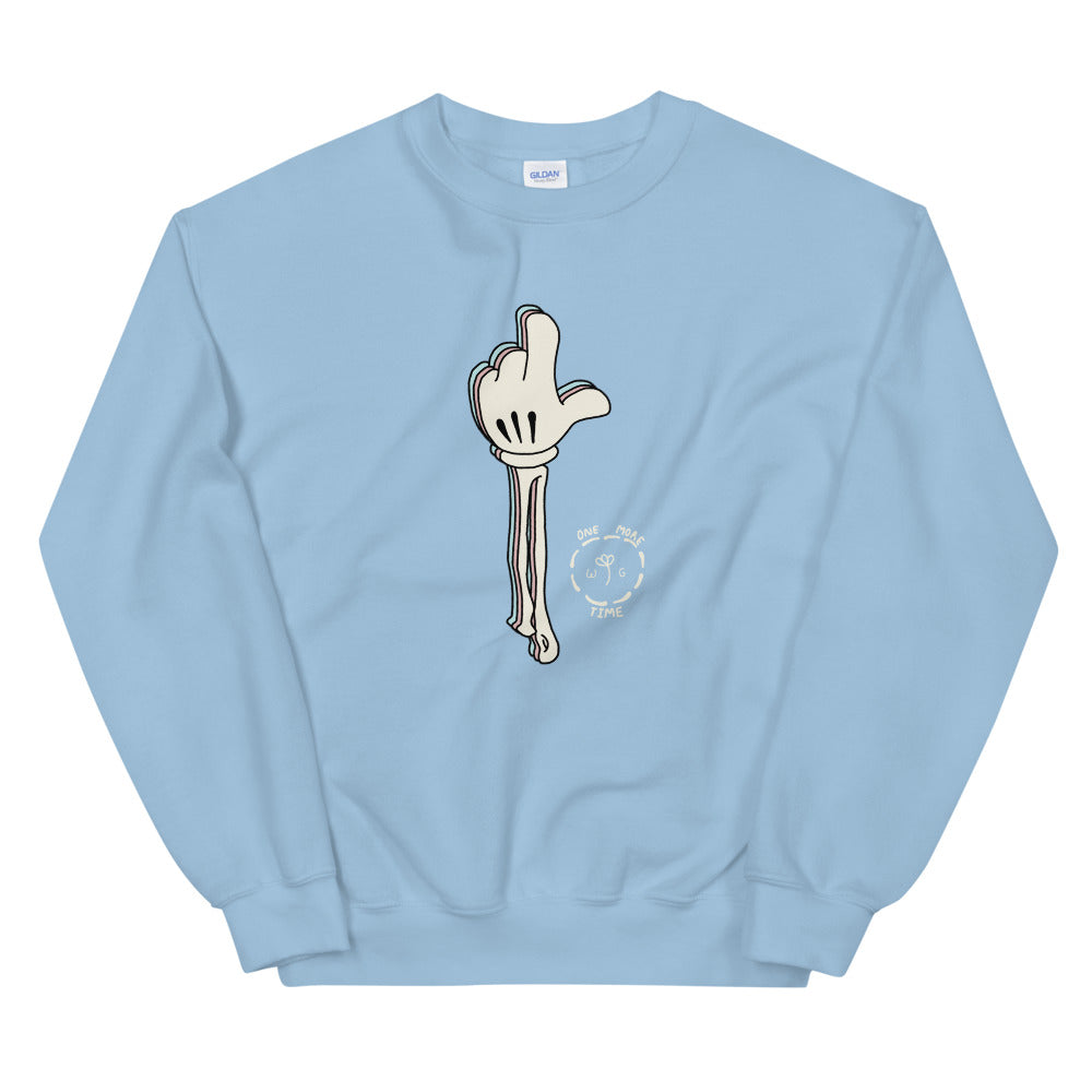 One More Time Skeleton Color Guard Unisex Sweatshirt-Marching Arts Merchandise-Light Blue-S-Marching Arts Merchandise