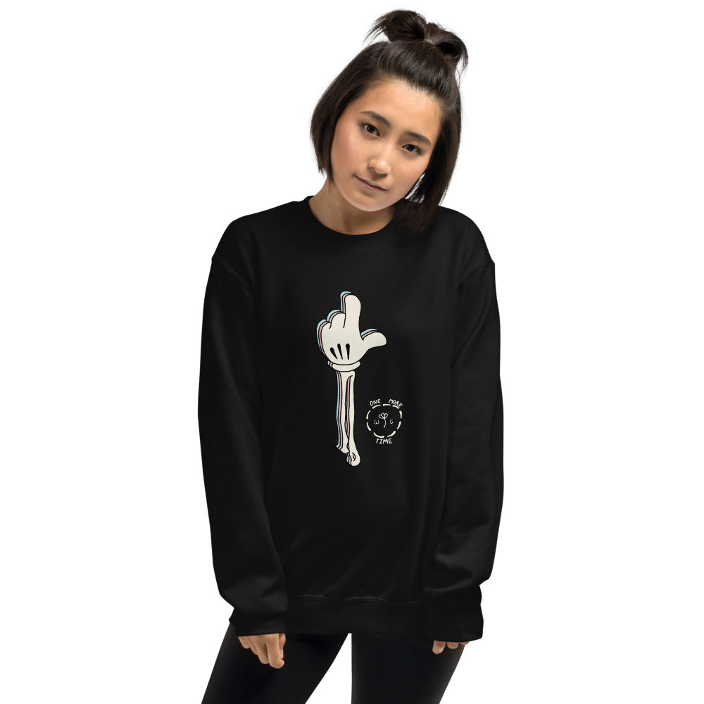 One More Time Skeleton Color Guard Unisex Sweatshirt-Marching Arts Merchandise-Marching Arts Merchandise