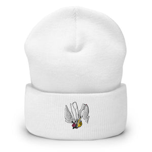 Color Guard Fire Cuffed Beanie-Marching Arts Merchandise-Marching Arts Merchandise