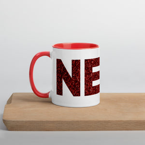 Glitter Nerd Mug with Color Inside-Marching Arts Merchandise-Red-Marching Arts Merchandise