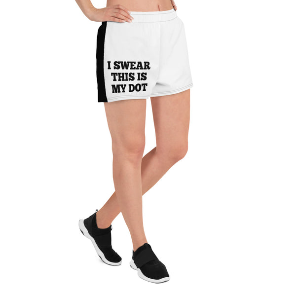 My Dot Women's Athletic Short Shorts - Marching Arts Merchandise -  - Marching Arts Merchandise - Marching Arts Merchandise - band percussion color guard clothing accessories home goods
