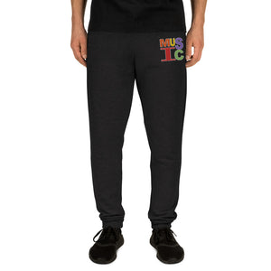Retro Music Embroidered Unisex Joggers-Marching Arts Merchandise-S-Marching Arts Merchandise