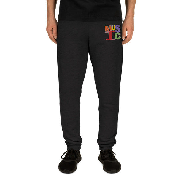 Retro Music Embroidered Unisex Joggers - Marching Arts Merchandise -  - Marching Arts Merchandise - Marching Arts Merchandise - band percussion color guard clothing accessories home goods