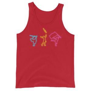 Neon Color Guard Unisex Tank Top-Marching Arts Merchandise-Red-XS-Marching Arts Merchandise